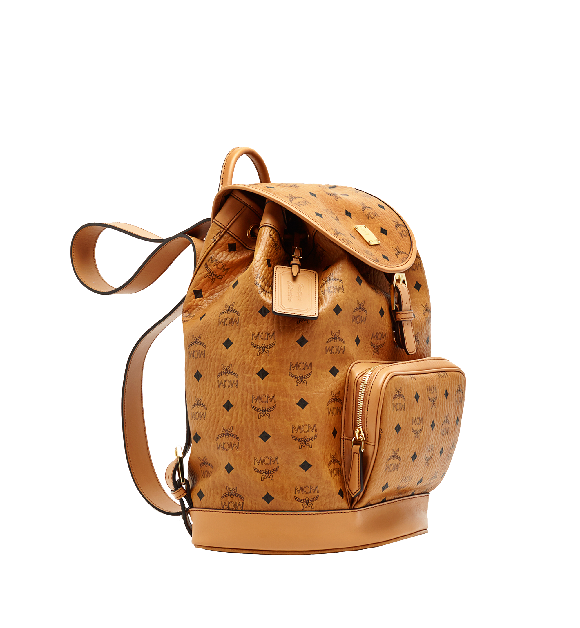 40 cm 16 in Heritage Single Pocket Rucksack in Visetos