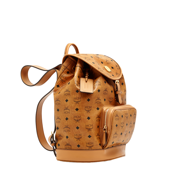 MCM Heritage Single Pocket Rucksack in Visetos Cognac MWK6AVI44CO001 Alternate View 2