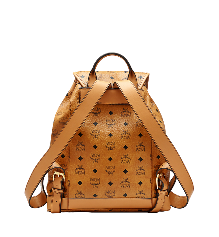 MCM Heritage Single Pocket Rucksack in Visetos Cognac MWK6AVI44CO001 Alternate View 3