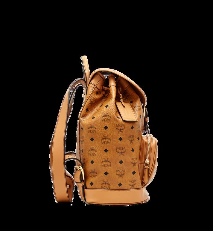 MCM Heritage Rucksack in Visetos mit einzelner Tasche Cognac MWK6AVI44CO001 Alternate View 4
