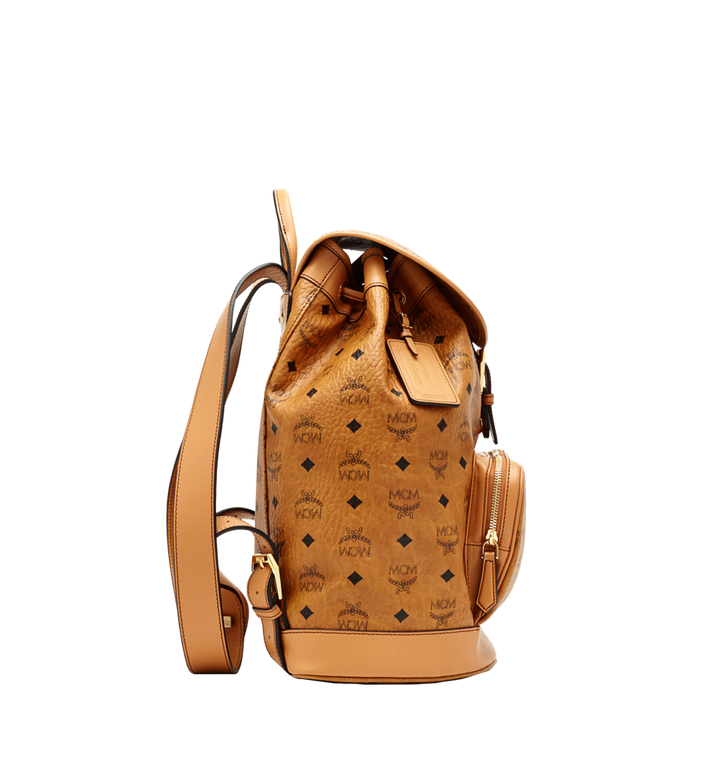 MCM Heritage Single Pocket Rucksack in Visetos Cognac MWK6AVI44CO001 Alternate View 4