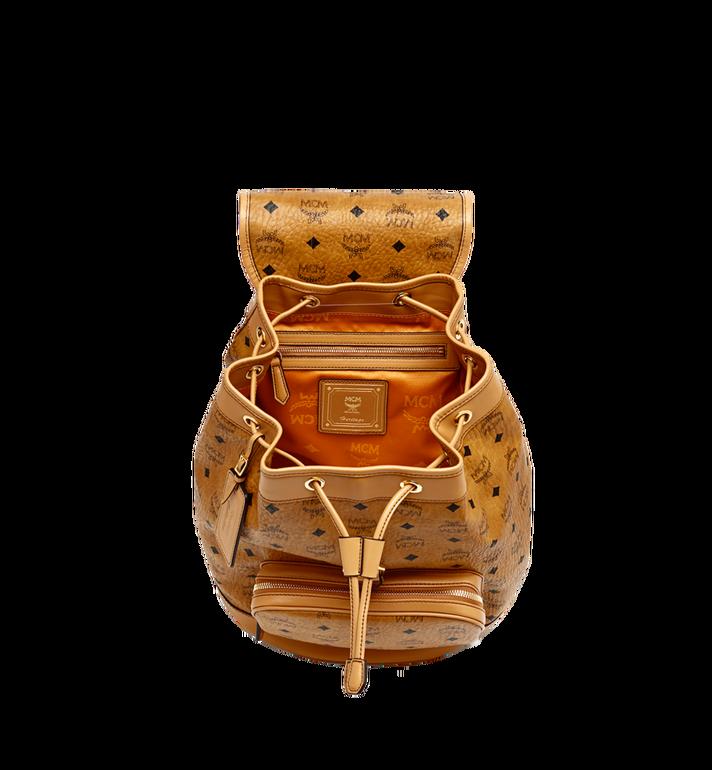MCM Heritage Rucksack in Visetos mit einzelner Tasche Cognac MWK6AVI44CO001 Alternate View 5