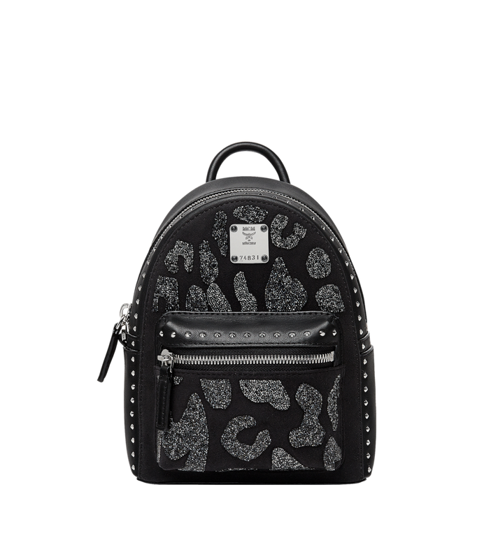 MCM Stark Bebe Boo Backpack in MCM Leopard Crystal MWK8AVE11BK001 AlternateView