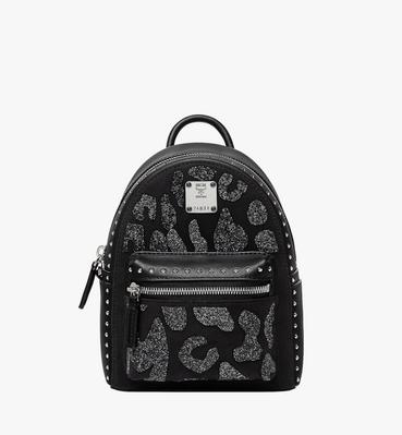 Stark Bebe Boo Backpack in MCM Leopard Crystal