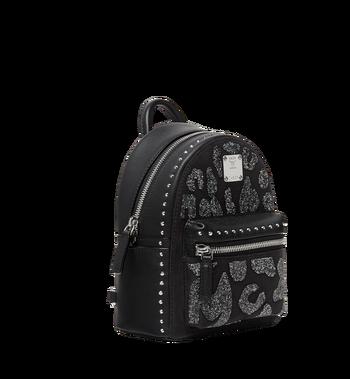 MCM Stark Bebe Boo Backpack in MCM Leopard Crystal MWK8AVE11BK001 AlternateView2