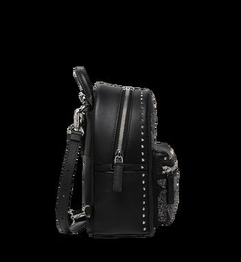 MCM Stark Bebe Boo Backpack in MCM Leopard Crystal Alternate View 3