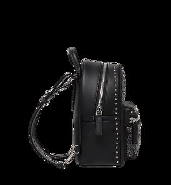 MCM Stark Bebe Boo Backpack in MCM Leopard Crystal Alternate View 4