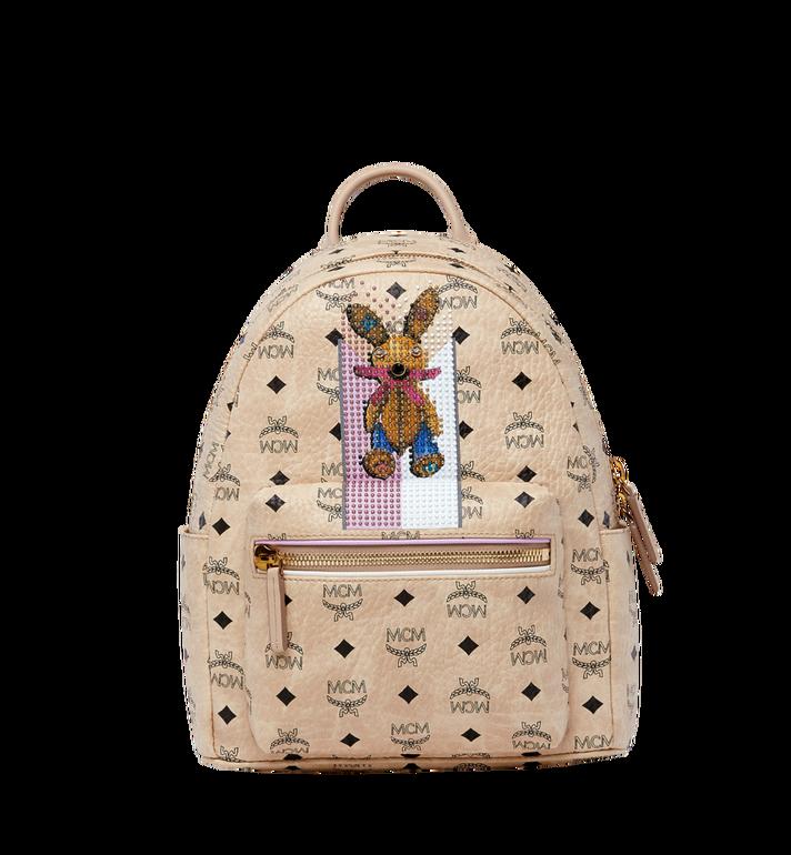MCM Stark Stripe Rabbit Backpack in Visetos MWK8SXL30IG001 AlternateView