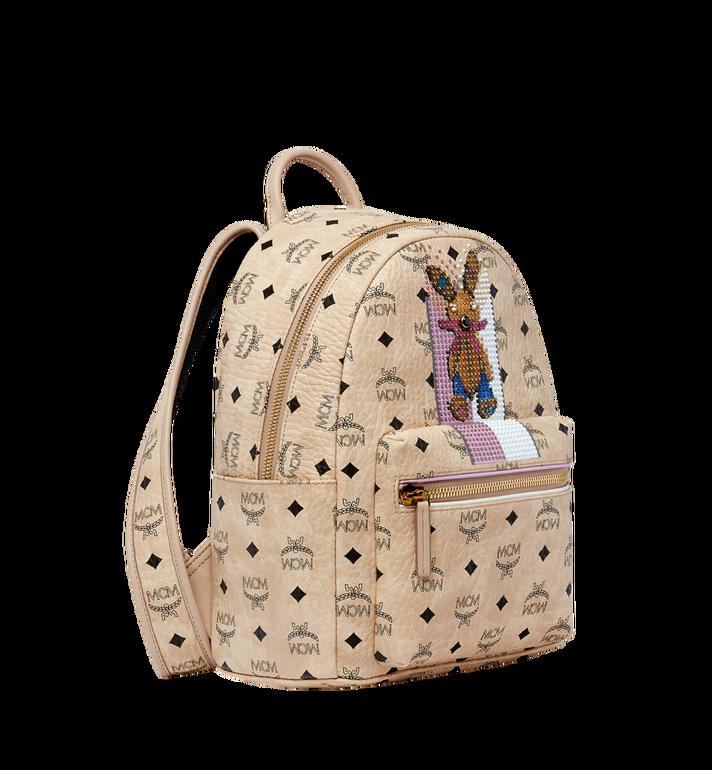 MCM Stark Stripe Rabbit Backpack in Visetos MWK8SXL30IG001 AlternateView2