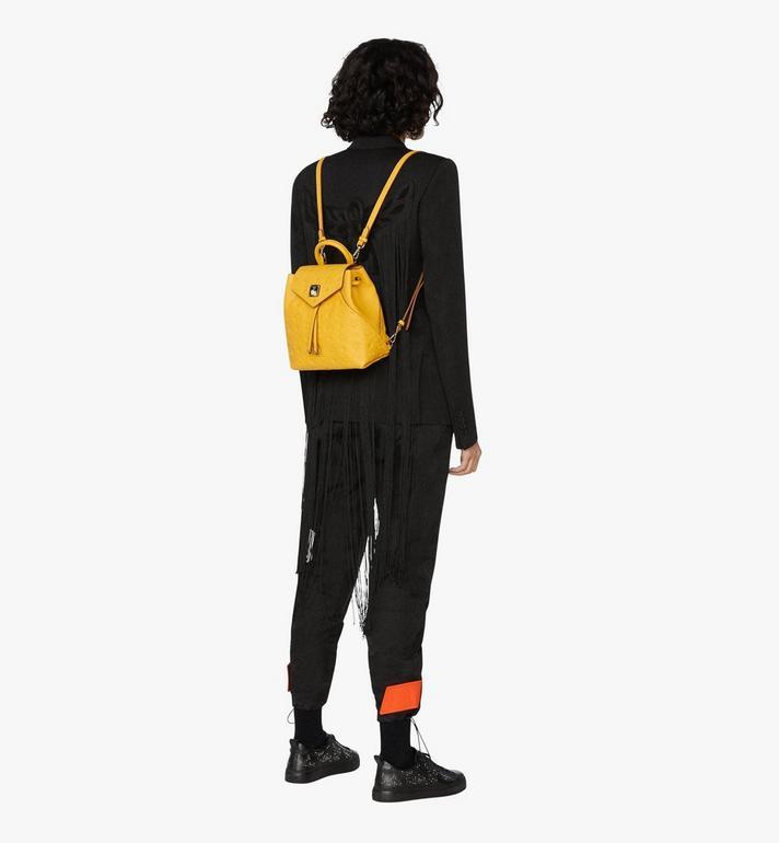 MCM Essential Backpack in Monogram Leather Alternate View 5