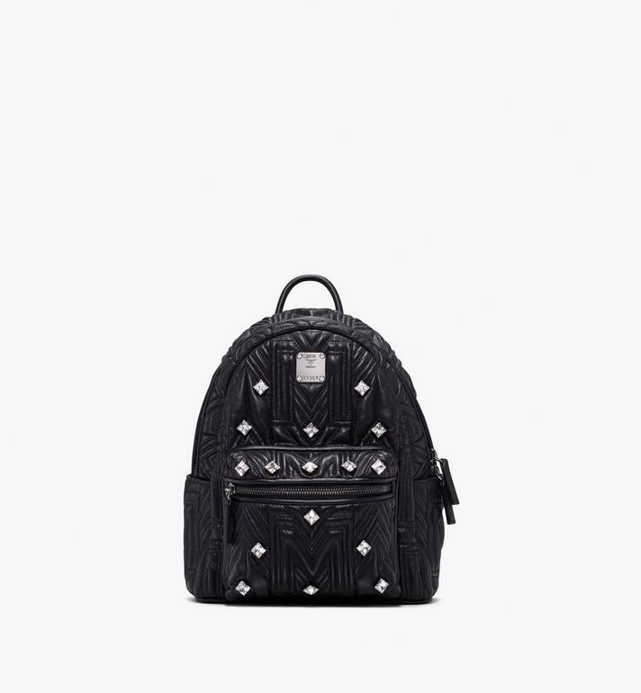 MCM Stark Bebe Boo Backpack in Crystal Quilted Leather Alternate View