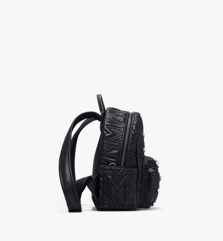 MCM Stark Bebe Boo Backpack in Crystal Quilted Leather  MWK9AVE92BK001 Alternate View 2