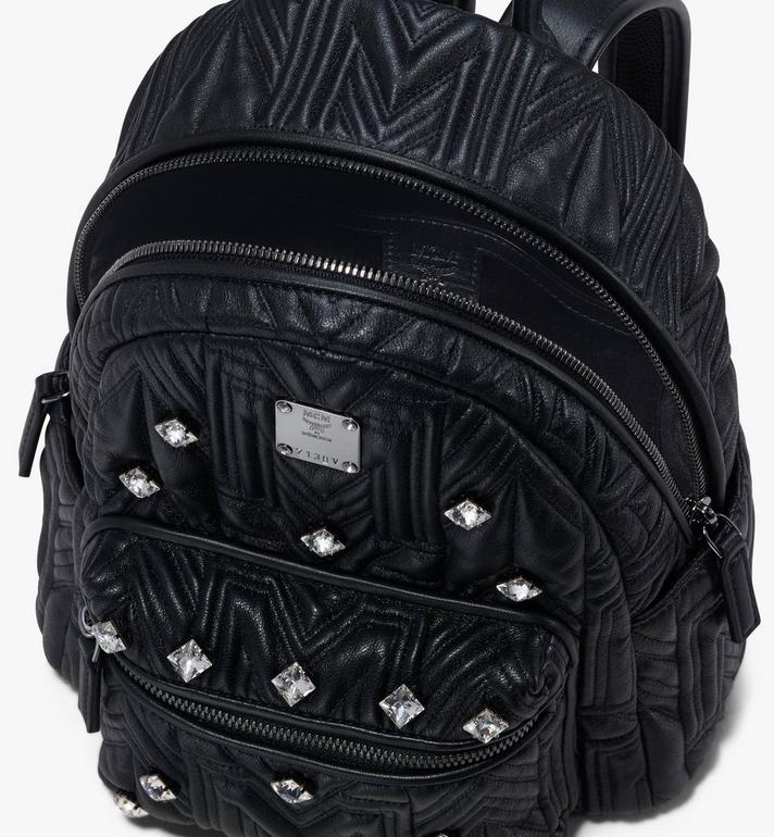 MCM Stark Bebe Boo Backpack in Crystal Quilted Leather  MWK9AVE92BK001 Alternate View 4