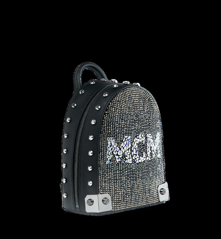 MCM Stark Bebe Boo Backpack in Mosaic Crystal Black MWK9SMS01BK001 Alternate View 2