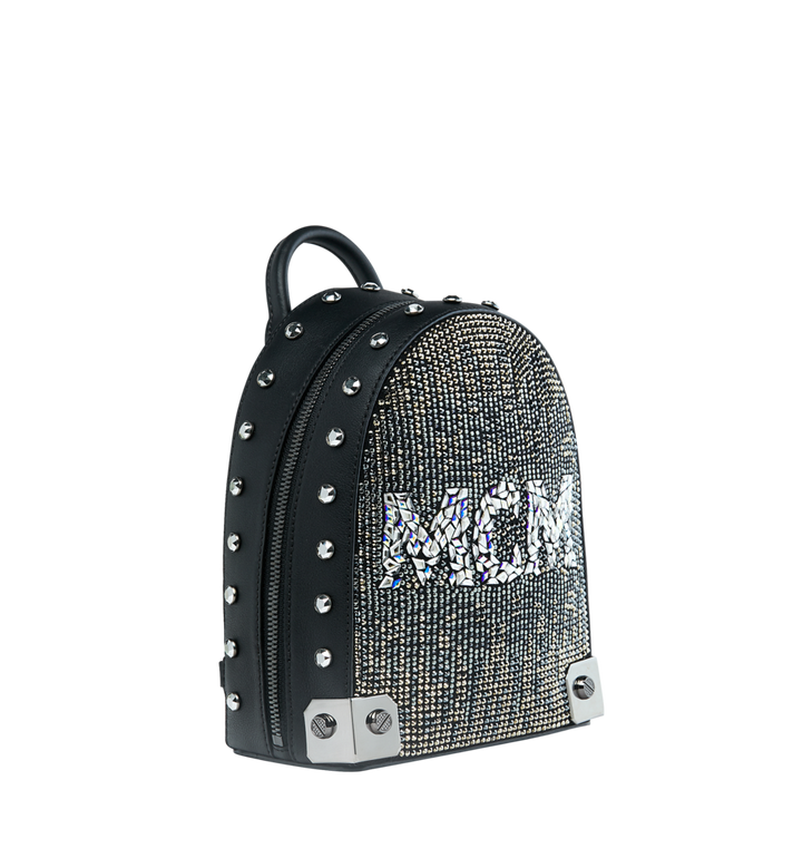 MCM Stark Bebe Boo Backpack in Mosaic Crystal AlternateView2