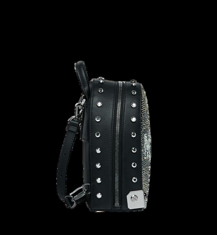 MCM Stark Bebe Boo Backpack in Mosaic Crystal Black MWK9SMS01BK001 Alternate View 3