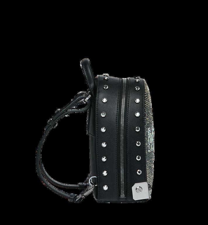 MCM Stark Bebe Boo Backpack in Mosaic Crystal Black MWK9SMS01BK001 Alternate View 4