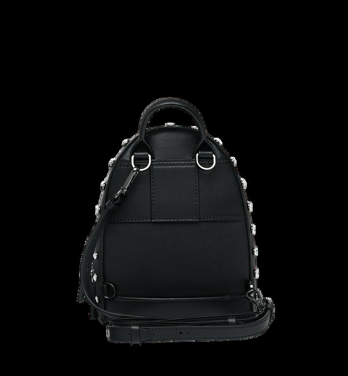 MCM Stark Bebe Boo Backpack in Mosaic Crystal Black MWK9SMS01BK001 Alternate View 6