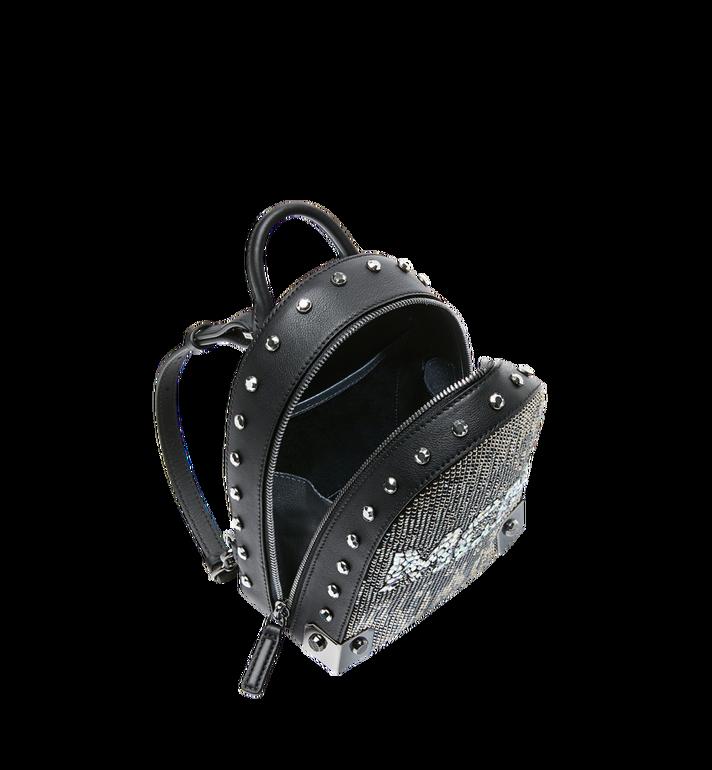 MCM Stark Bebe Boo Backpack in Mosaic Crystal Black MWK9SMS01BK001 Alternate View 7