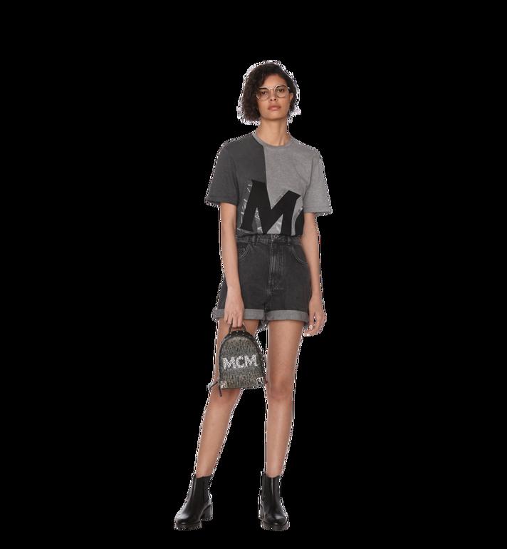 MCM Stark Bebe Boo Backpack in Mosaic Crystal Black MWK9SMS01BK001 Alternate View 8