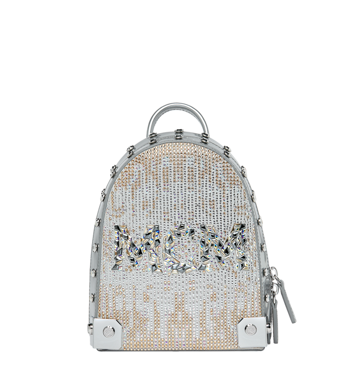 MCM Stark Bebe Boo Backpack in Mosaic Crystal MWK9SMS01SB001 AlternateView