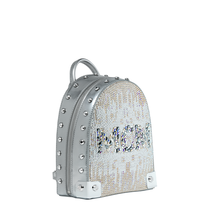 MCM Stark Bebe Boo Backpack in Mosaic Crystal Alternate View 2