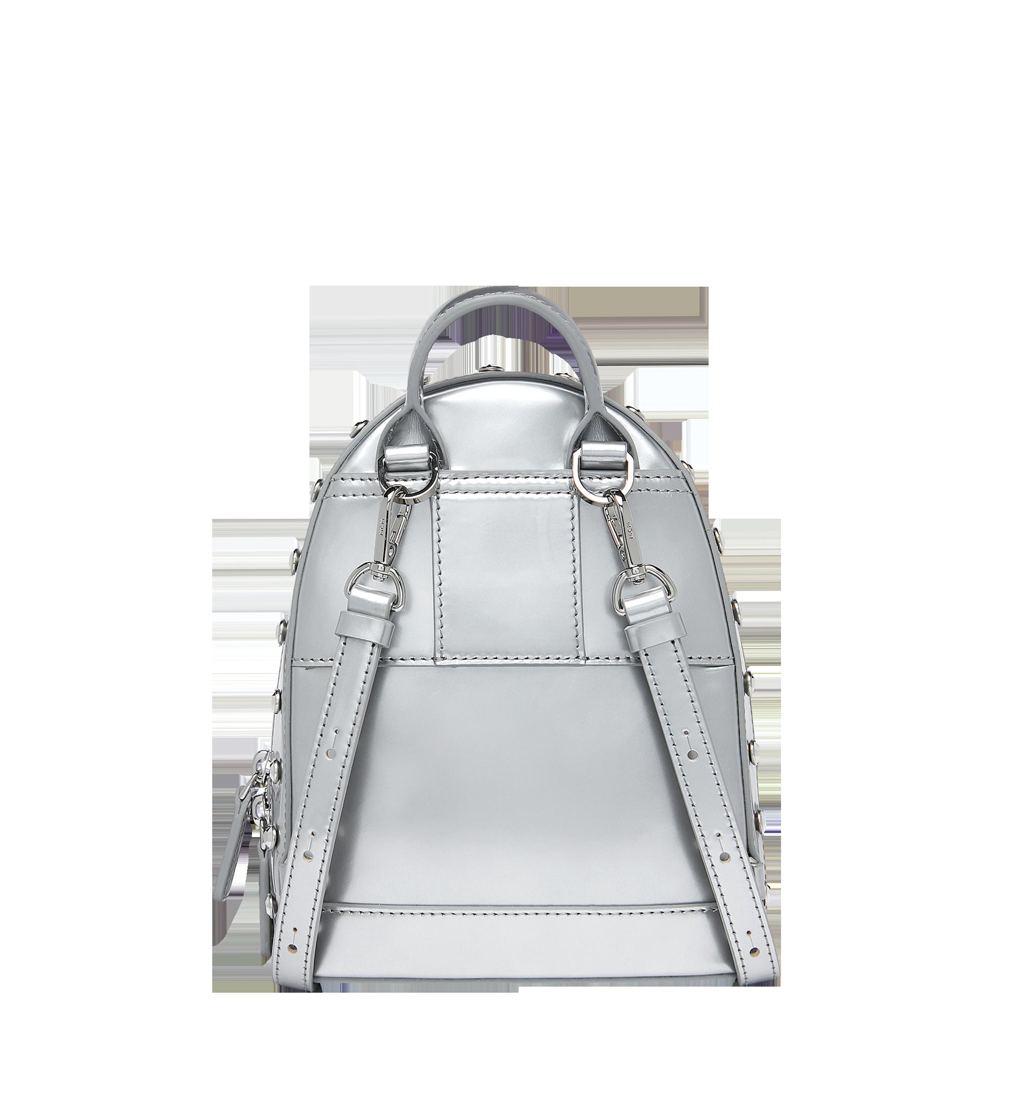 MCM Stark Bebe Boo Backpack in Mosaic Crystal Silver MWK9SMS01SB001 Alternate View 4