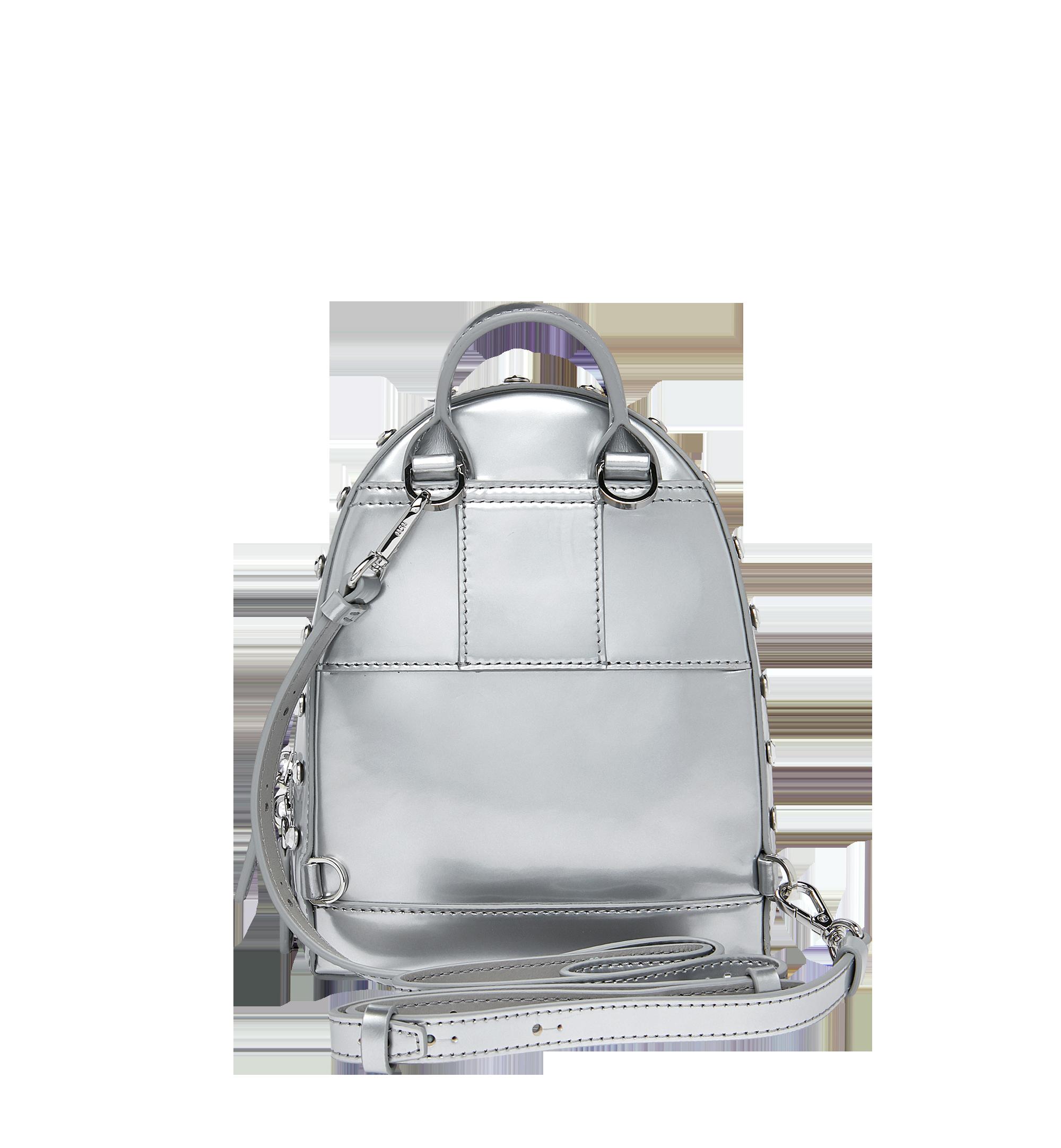 MCM Stark Bebe Boo Backpack in Mosaic Crystal Silver MWK9SMS01SB001 Alternate View 5