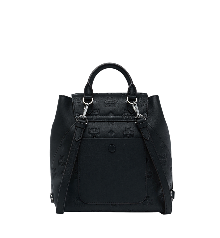 MCM Essential Backpack in Monogram Leather Black MWK9SSE03BK001 Alternate View 4