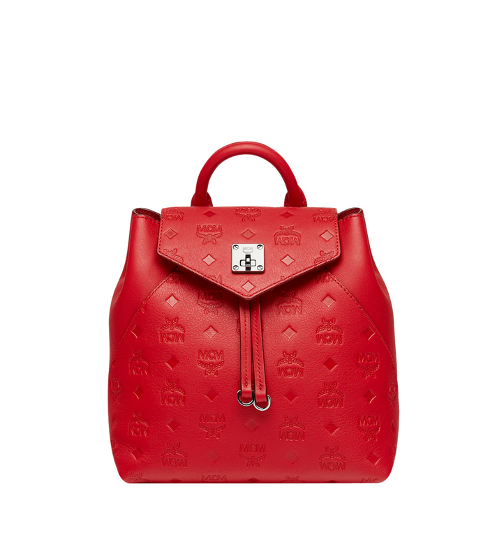 MCM Essential Backpack in Monogram Leather AlternateView