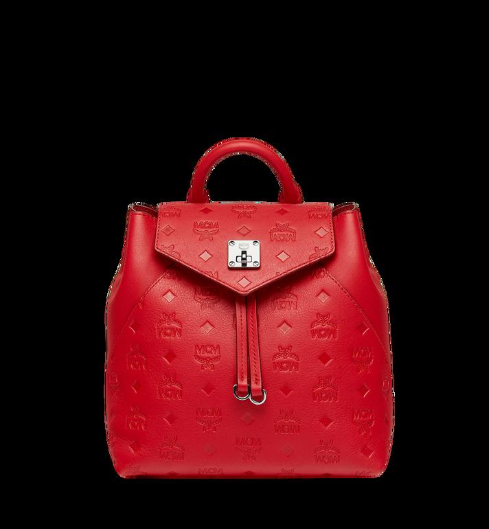 20b3cdf38def9 32 cm / 12.5 in Essential Backpack in Monogram Leather Viva Red | MCM