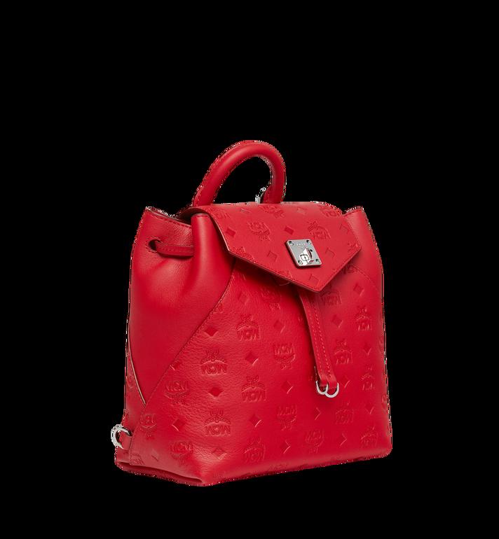 MCM Essential Backpack in Monogram Leather Red MWK9SSE03RJ001 Alternate View 2