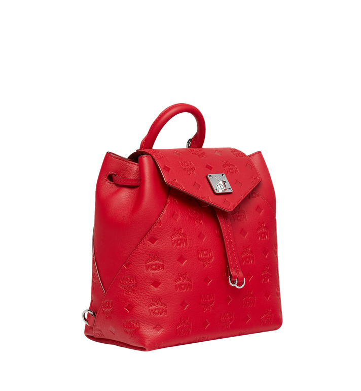 MCM Essential Backpack in Monogram Leather Red MWK9SSE03RJ001 Alternate View 2
