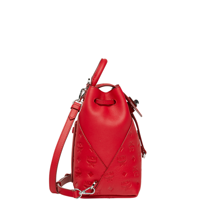 MCM Essential Backpack in Monogram Leather Red MWK9SSE03RJ001 Alternate View 3