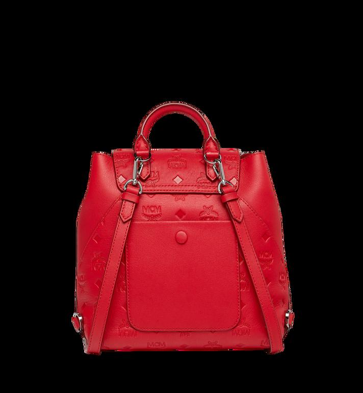 MCM Essential Backpack in Monogram Leather Red MWK9SSE03RJ001 Alternate View 4