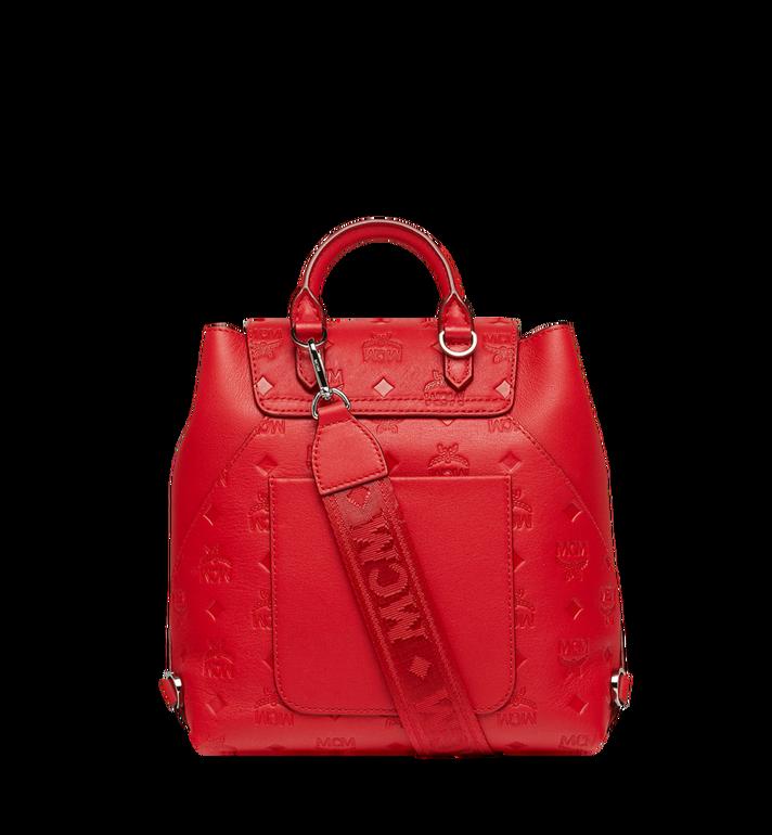 MCM Essential Backpack in Monogram Leather Red MWK9SSE03RJ001 Alternate View 5