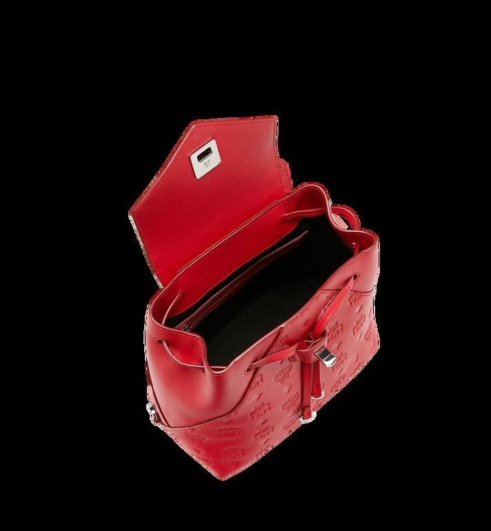 MCM Essential Backpack in Monogram Leather Red MWK9SSE03RJ001 Alternate View 6