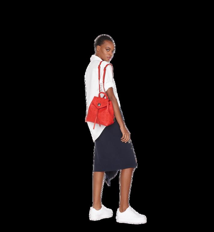 MCM Essential Backpack in Monogram Leather Red MWK9SSE03RJ001 Alternate View 7