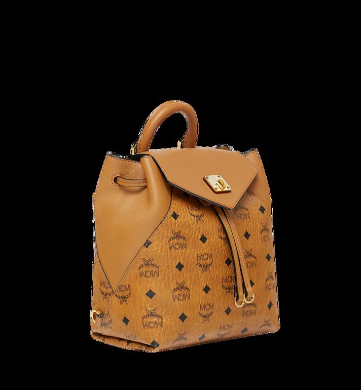 MCM Essential Backpack in Visetos Original Cognac MWK9SSE05CO001 Alternate View 2