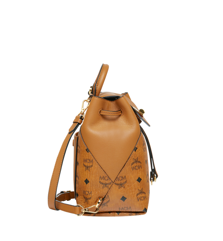 MCM Essential Backpack in Visetos Original Cognac MWK9SSE05CO001 Alternate View 3