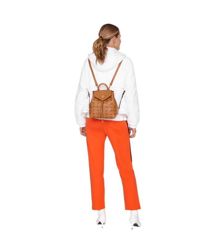 MCM Essential Backpack in Visetos Original Cognac MWK9SSE05CO001 Alternate View 7