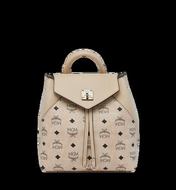 MCM Essential Backpack in Visetos Original MWK9SSE05IG001 AlternateView