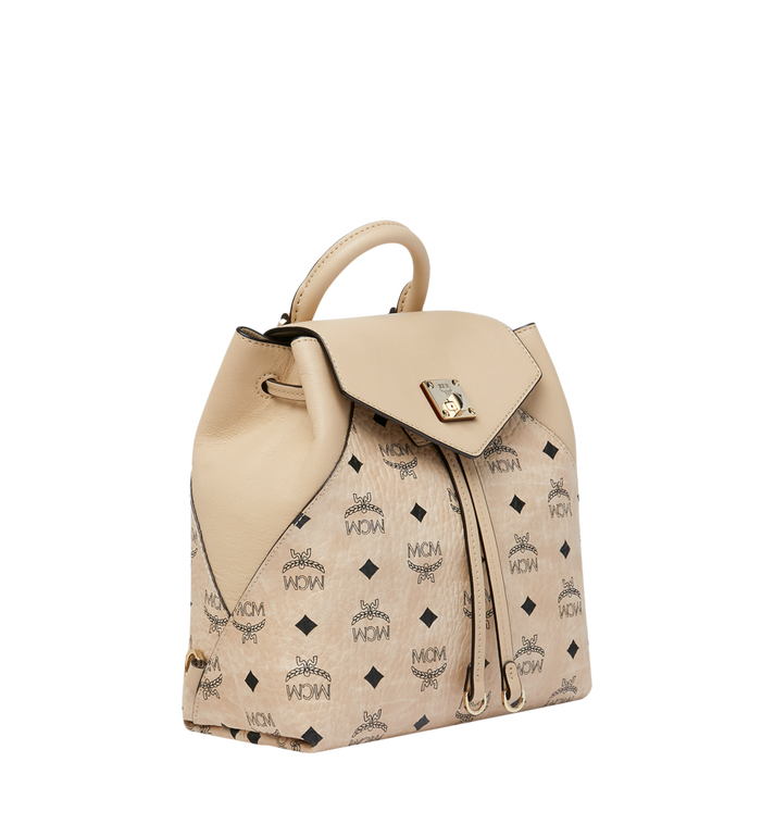 MCM Essential Backpack in Visetos Original Alternate View 2
