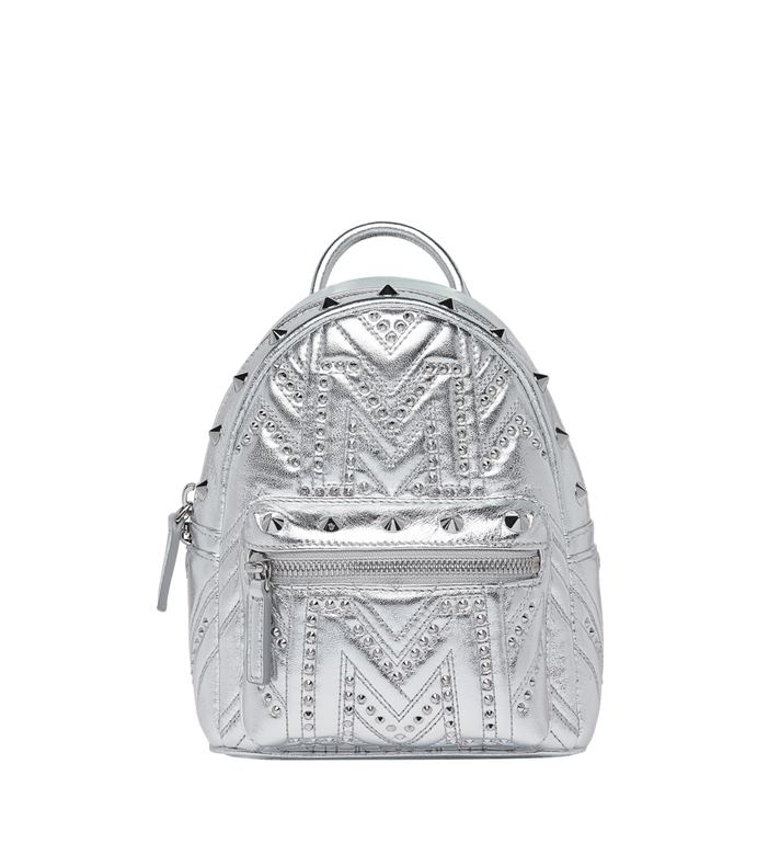 MCM Stark Bebe Boo Backpack in Quilted Studs AlternateView