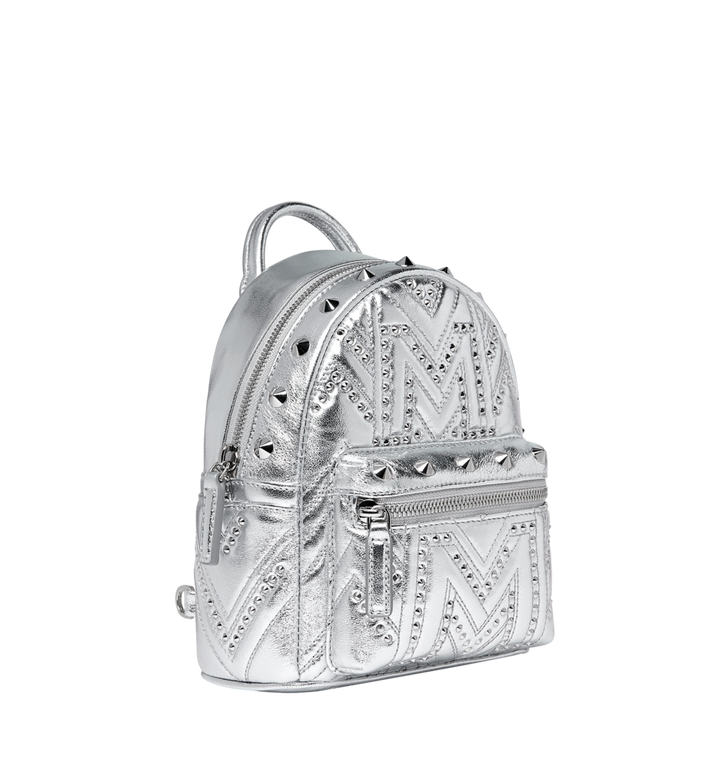 04fb1ab1c387e2 20 cm / 8 in Stark Bebe Boo Backpack in Quilted Studs Berlin Silver ...