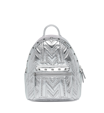 MCM Stark Backpack in Quilted Studs MWK9SVE02SB001 AlternateView