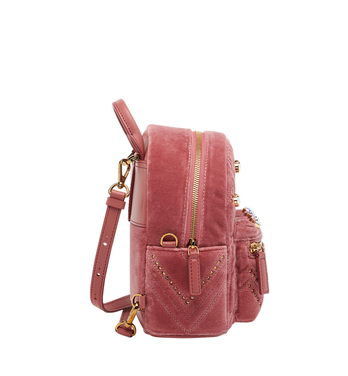 MCM Stark Bebe Boo Rucksack in Velvet Crystal Studs AlternateView3