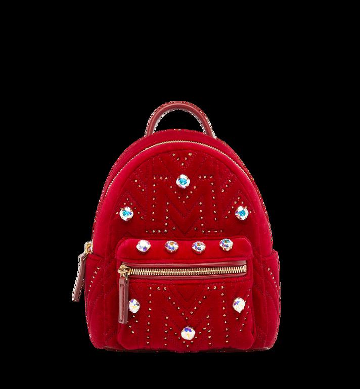 MCM Stark Bebe Boo Backpack in Velvet Crystal Studs AlternateView