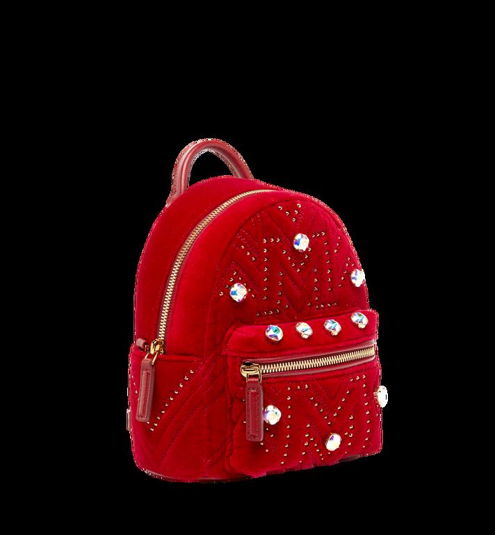 MCM Stark Bebe Boo Backpack in Velvet Crystal Studs AlternateView2