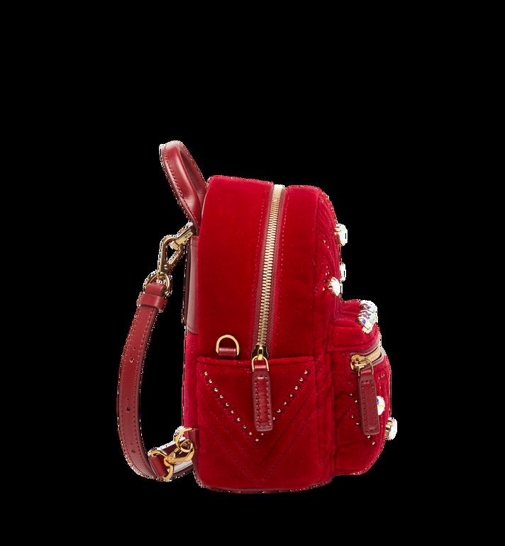MCM Stark Bebe Boo Backpack in Velvet Crystal Studs AlternateView3